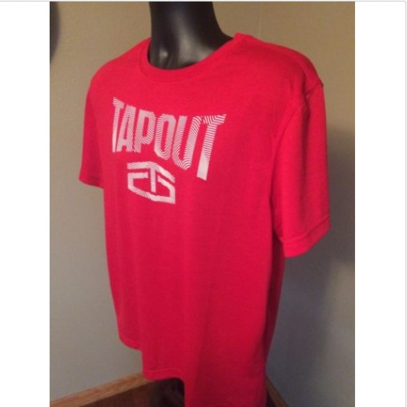 7cded807 Tap Out Shirts | Nwt Tapout New Mens Red Moisture Wicking Tshirt M ...